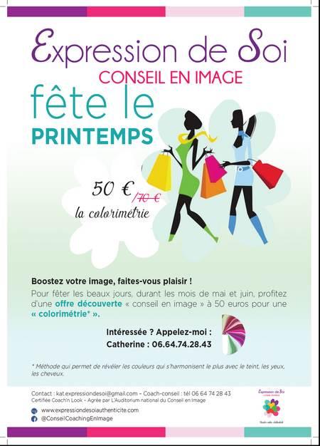Flyer promotionnel pour une séance de colorimétrie